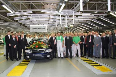 1.000.000 car manufactured at Vrchlabi plant since VW takeover in 1991, 2.0 PD-TDI (source: �koda Auto)