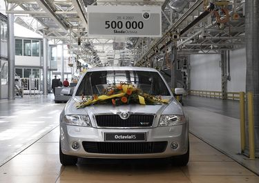 500.000. Octavia 2 in Mlada Boleslav, RS 2.0 TFSI (source: �koda Auto)