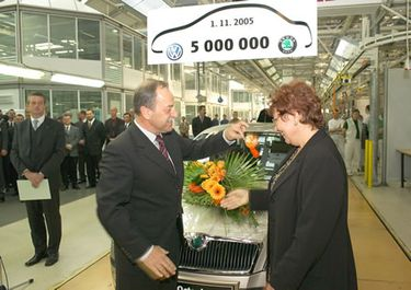 5 million car since VW takeover in 1991, 1.6 MPI (source: �koda Auto)
